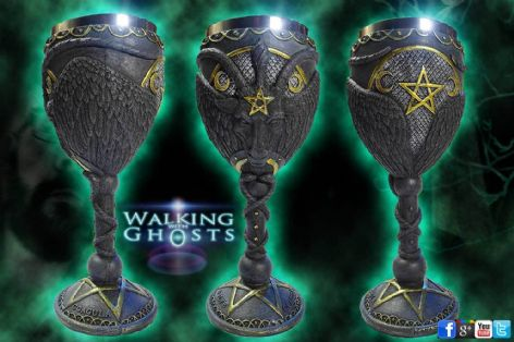 Baphomet Alter Chalice Wine Goblet Satanic Goat Of Mendes Pagan Wicca Magick UK